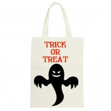 Trick Or Treat Ghost Silhouette Tote