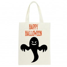 Happy Halloween Ghost Silhouette Tote