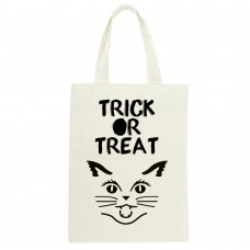 Trick Or Treat Cat Silhouette Tote