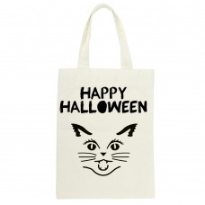 Happy Halloween Cat Silhouette Tote Bag