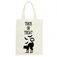 Trick Or Treat Cat and Bat Tote