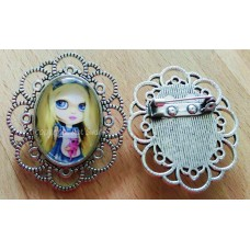 Tattooed Alice Brooch