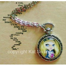 Tattooed Alice Decorative Fob Pendant and Necklace