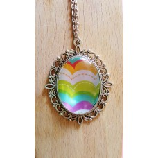 Bouncing Rainbows Pendant With 24 Inch Chain