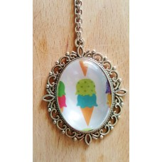 Ice Cream Pendant With 24 Inch Chain