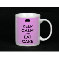 Keep Calm And Eat Cake, Ceramic Mug