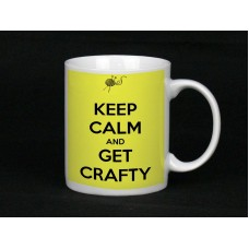 Keep Calm And Get Crafty, Ceramic Mug
