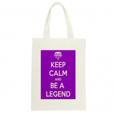 Keep Calm And Be A Legend Tote Bag