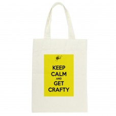 Keep Calm And Get Crafty Tote Bag