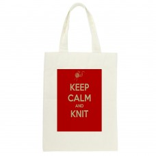 Keep Calm And Knit Tote Bag