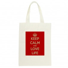 Keep Calm And Love Life Tote Bag