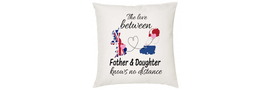 The Love Between Father & Daughter knows no distance pillow