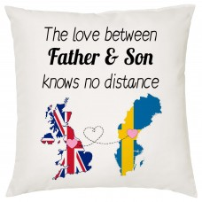 The love between Father & Son Knows no Distance Cushion