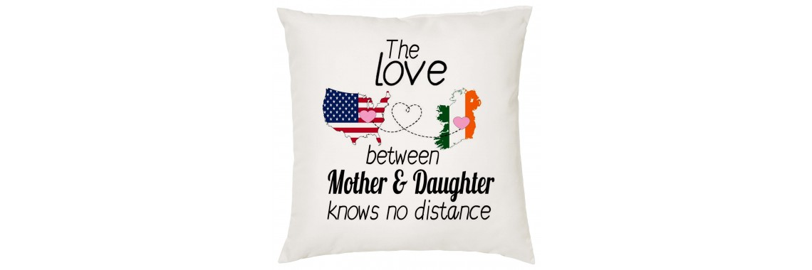 The Love Between Mother & Daughter knows no distance pillow