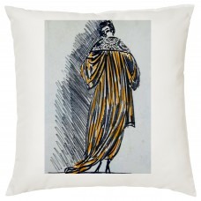 Elegant Coat Pencil Drawing Decorative Cushion