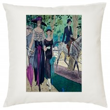 Ladies Day At The Races Decorative Cushion