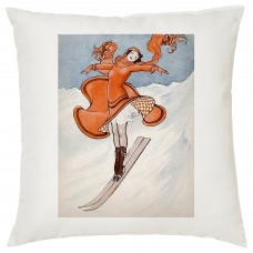 Glamour Puss Skiing Decorative Cushion