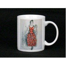 Elegant Dress Pencil Drawing Mug