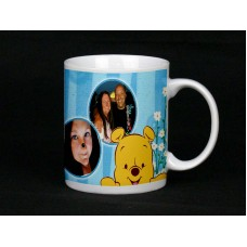 Cute Yellow Bear Personalised Photo Mug