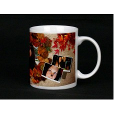 Autumn Leaves Personalised Photo Mug