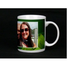 Green Leaves Personalised Photo Mug