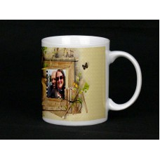 Wonderland Frame Personalised Photo Mug