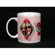 Candy Stripe Personalised Photo Mug