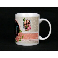 Vintage Rose Personalised Photo Mug