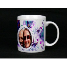 Watercolour Butterflies Personalised Photo Mug