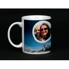 Blue Skies Personalised Photo Mug