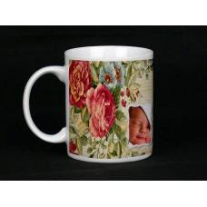 Wild Flower Personalised Photo Mug