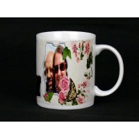 Butterfly Rose Personalised Photo Mug