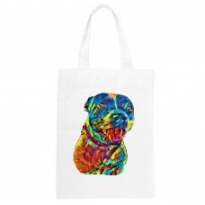 Personalised Rainbow Pet Portrait Tote Bag