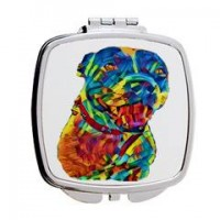 Personalised Rainbow Pet Portrait Mirror Compact