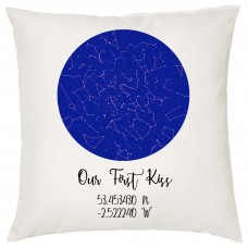 Under These Stars Our First Kiss Cushion