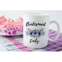 Wedding Party Ceramic Mug (Lilac Floral)
